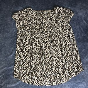 Cheetah Print Blouse w/ Pocket